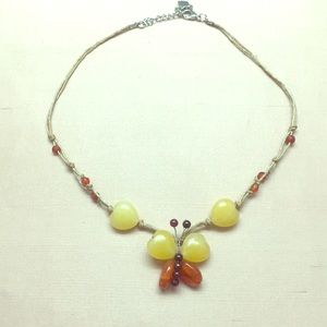 Adorable real stone butterfly 🦋 necklace